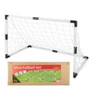 Idena 40465 'Mini-Fußballtor-Set' 90 x 60 x 50 cm, ab 6 Jahren, inkl. Netz, Ball und Ballpumpe