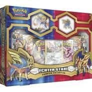 Pokemon - Echter Stahl Premium Kollektion - zufällige Auswahl der Box, Zacian oder Zamazenta - Deutsch