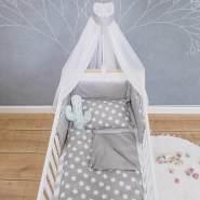 Puckdaddy 'Finja' Bett-Set, grau, 135x100 cm