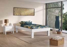 Erst-Holz Futonbett mit hohen Füßen 120x200 cm