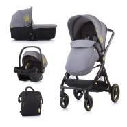 Chipolino 'Elite 3' Kombikinderwagen 3 in 1 Grau, inkl. Tragewanne und Babyschale