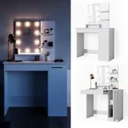 Vicco 'Julia' Schminktisch, Weiß, inkl. LED-Lichterkette, mit Spiegel