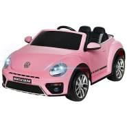Kidcars Kinder Elektro Auto VW Volkswagen Beetle 2x 25W 12V 4. 5Ah Pink