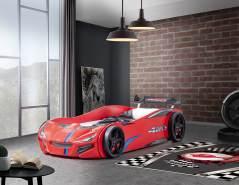 Relita 'SUPERDRIFT' Autobett 90 x 200 cm Holznachbildung rot
