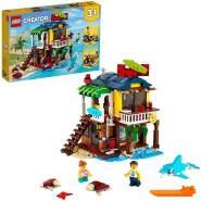 LEGO Creator 3-in-1 31118 'Surfer-Strandhaus', 564 Teile, ab 8 Jahren, drei Baumöglichkeiten, Surfer-Hütte, Leuchtturm und Poolhaus