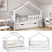 VitaliSpa 'Design' Kinderbett 70 x 140 cm, weiß, Massivholz Kiefer, inkl. Schublade