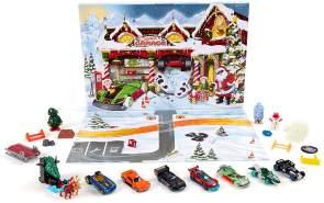 Hot Wheels Adventskalender mit 8 Fahrzeugen und Zubehör