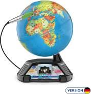 VTech 80-605404 School & Go 'Interaktiver Videoglobus', Lernglobus mit ca. 600 Videos zu einer Vielzahl an Themen