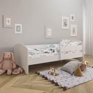 Kinderbett 160x80 mit Rausfallschutz & Lattenrost in weiß