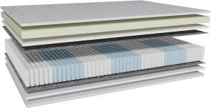 AM Qualitätsmatratzen 'Visco-Taschenfederkernmatratze', H2, 100x200 cm