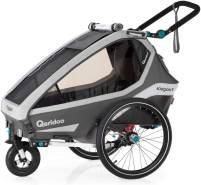 Qeridoo 'Kidgoo1' Fahrradanhänger 2020, Grau, 1-Sitzer