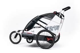 Leggero 'Vento R Active' Fahrradanhänger Sail, 2-Sitzer inkl. Jogger- & Buggyset
