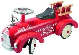 GOKI 14162 'Rutscherfahrzeug Feuerwehr' ab 12 Monaten, bis 25 kg belastbar, rot