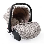 Moni Babyschale Gala Premium Gruppe 0+ (0 - 13 kg), Fußabdeckung, Sitzpolster beige