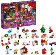 LEGO 'Friends' 41420 Adventskalender 2020, Weihnachtskalender Mädchen mit 24 Türchen, Emma, Elfen und Santa Workshop