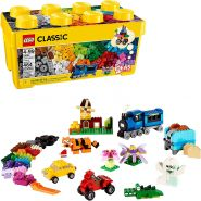 LEGO Classic 10696 'Mittelgroße Bausteine-Box', 484 Teile, ab 4 Jahren, LEGO-Steine in 35 verschiedenen Farben, inkl. speziellen Elementen
