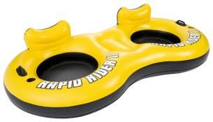 Bestway - Schwimmringsessel Rapid Rider X2 Sessel, gelb schwarz, 251x132