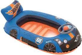Bestway 'Hot Wheels' Kinderboot, Schlauchboot, 101 x 60 x 32 cm, ab 3 Jahren, mit Rückenlehne, Bodenfenster und Lenkrad mit Hupe