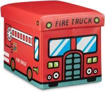 Relaxdays 'Feuerwehr' Faltbare Spielzeugkiste