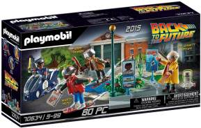PLAYMOBIL Back to the Future 70634 'Back to the Future Part II Verfolgung mit Hoverboard', 80 Teile, ab 5 Jahren
