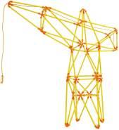Hape E5562 - Flexistix-Bausatz Auslegerkran aus Bambusstäben - Konstruktionsspielzeug