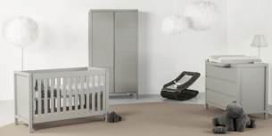 Quax 'Stripes' 3-tlg. Babyzimmer Griffin Grey 60x120 cm, 2-Türig